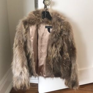 Adrienne Landau authentic raccoon fur coat